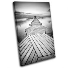 Wooden jetty Sunset Seascape - 13-0564(00B)-SG32-PO